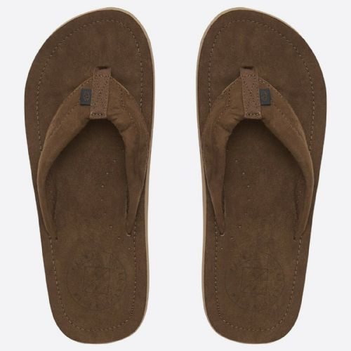 828ebd0c4c21 ANIMAL MENS FLIP FLOPS.HYDE SOFT TOE POST FAUX SUEDE BROWN THONGS SANDALS  9S 16 .